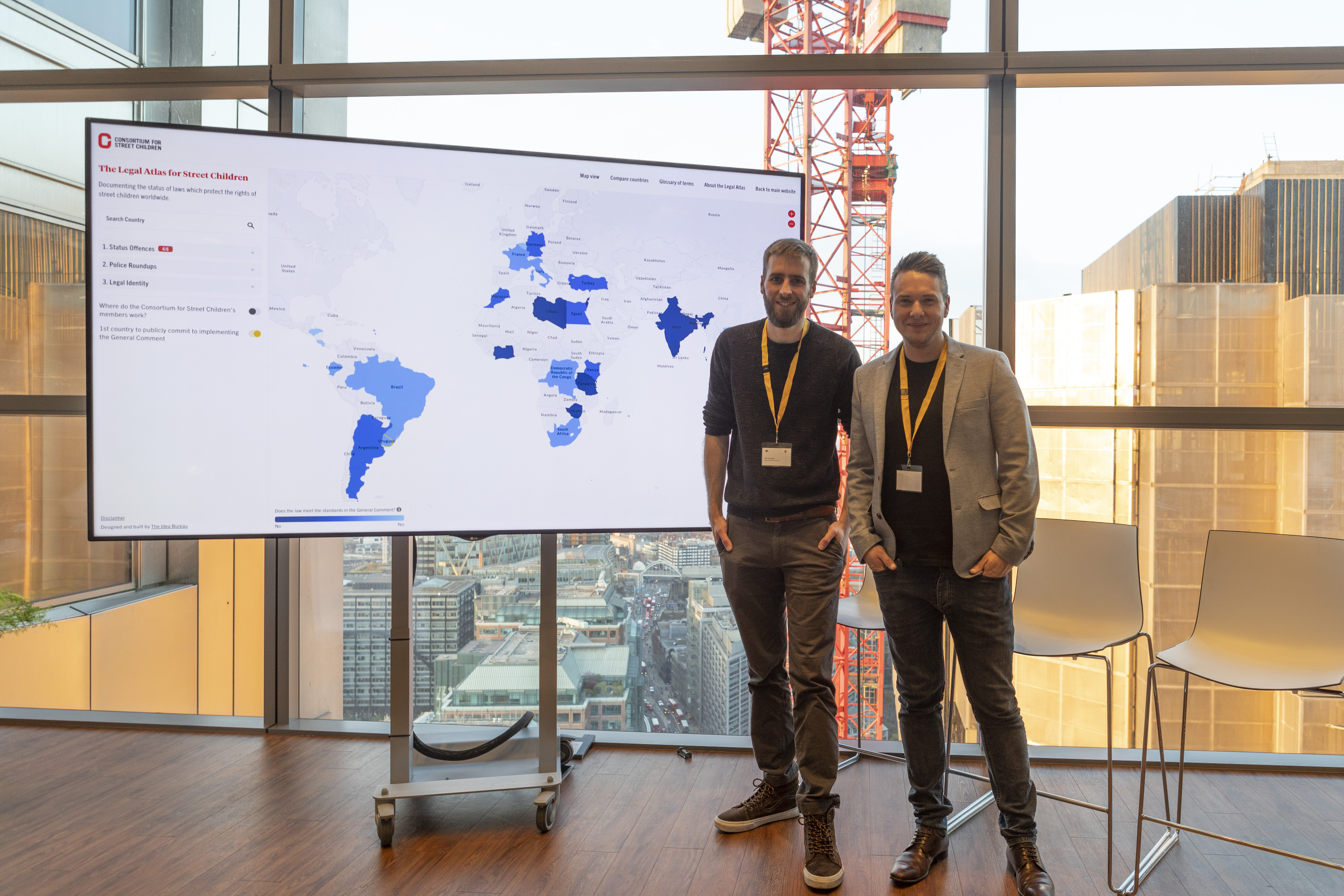 Atlas launch help at Salesforce tower in London, UK