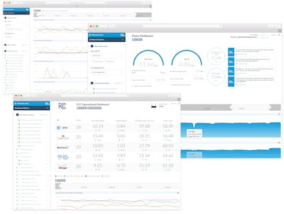 UI design work on the enterprise and consumer dashboard apps